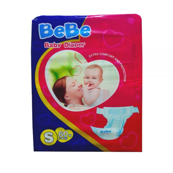 BEBE Baby Diapers Small 60N Best tape style diapers in BEBE range. The soft easy-to-fit design offers care and comfort to your baby.