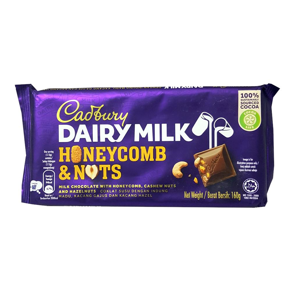 Cadbury Dairy Milk Honeycomb & Nuts Bar
